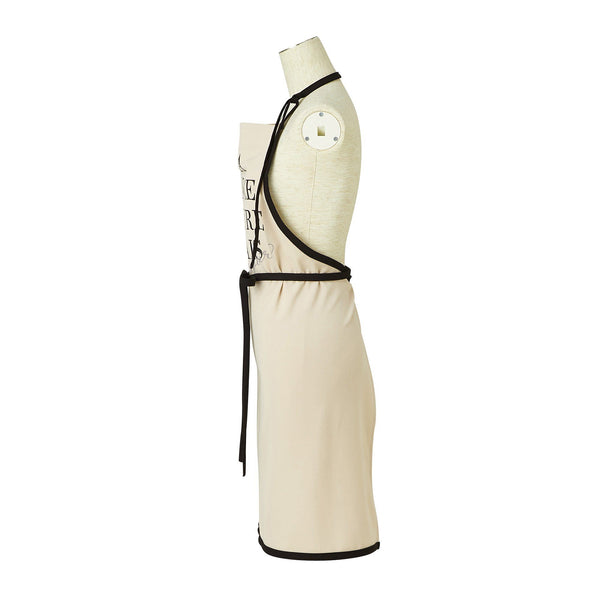 TEXT PRINT FULL APRON Beige