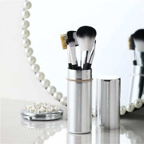 TIARA BRUSH SET SILVER