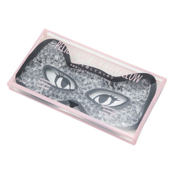 PELIGRI CAT FACE EYE PILLOW BLACK