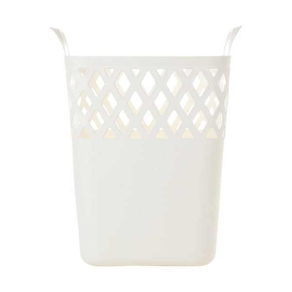 SQUARE Laundry Basket Large White