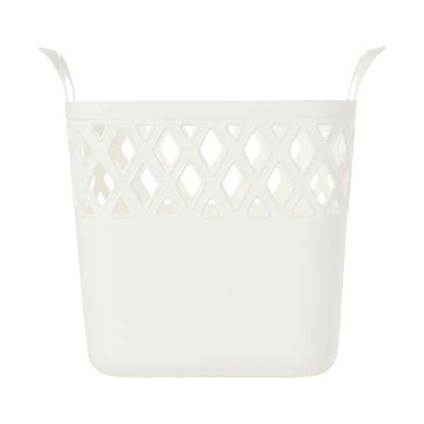 SQUARE Laundry Basket Small White