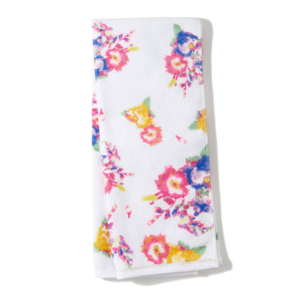 FLOR FACE TOWEL WH