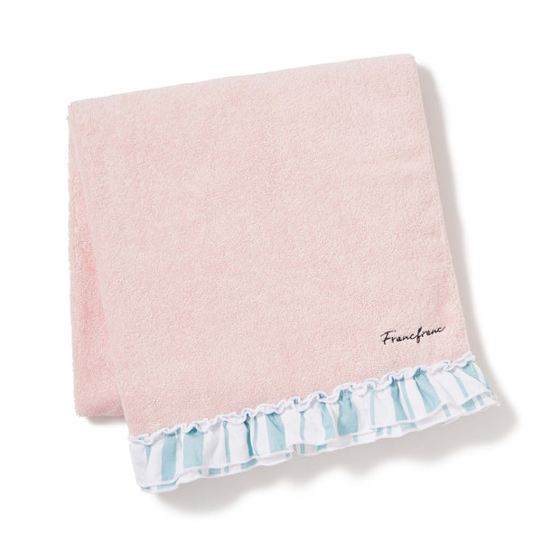 STRIPED FRILLS BATH TOWEL PK