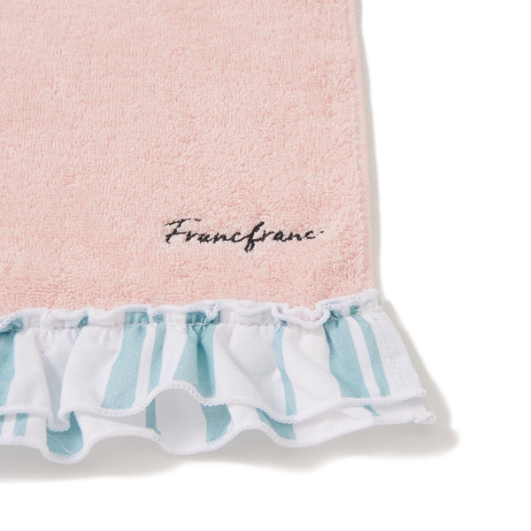 STRIPED FRILLS FACE TOWEL PK