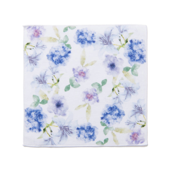 BALLOT HANDKERCHIEF TOWEL FLORAL PURPLE