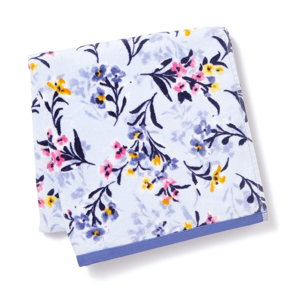 FLORALIES BATH TOWEL Blue