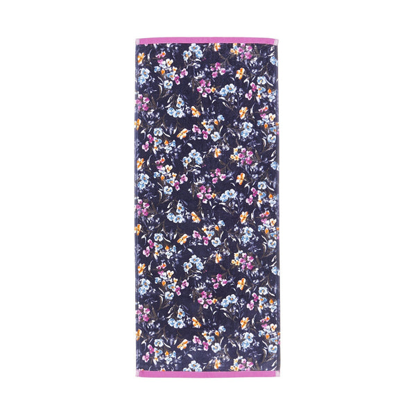 FLORALIES FACE TOWEL Navy
