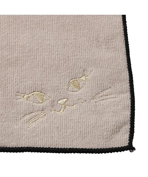 BALLOT HAND TOWEL CAT FACE BEIGE