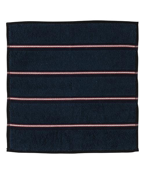 BALLOT Hand Towel Club Border Navy