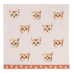 SUMMER BALLOT HAND TOWEL CATS PINK