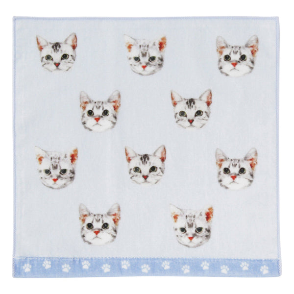 SUMMER BALLOT HAND TOWEL CATS BLUE