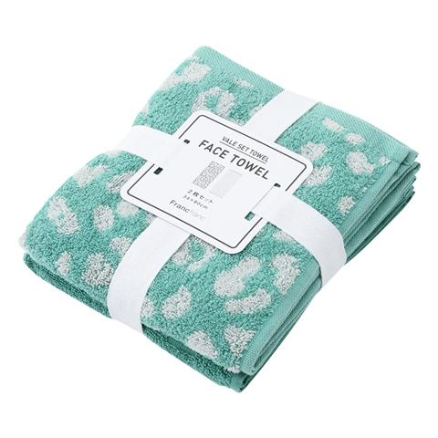 SUMMER VALE  Face Towel 2P SET Green
