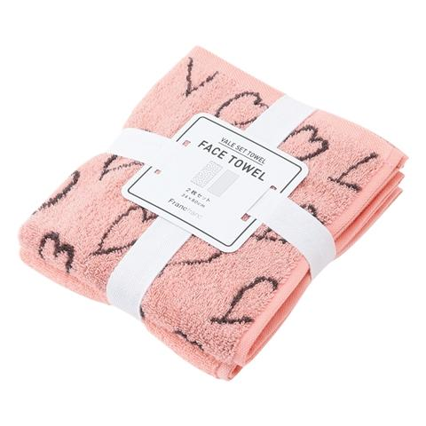 SUMMER VALE  Face Towel 2P SET Pink