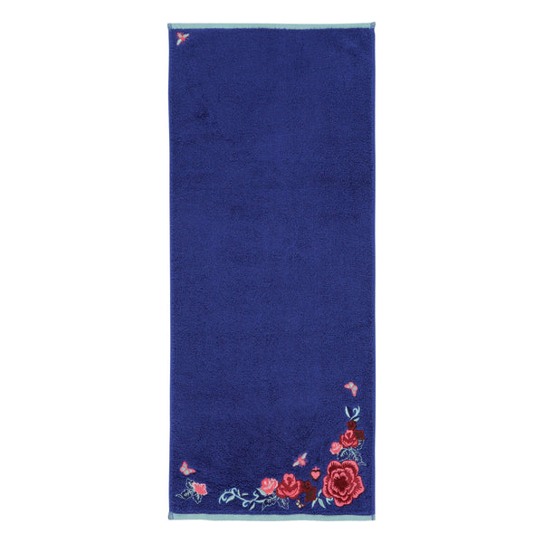 EMBROIDERY Face Towel Blue