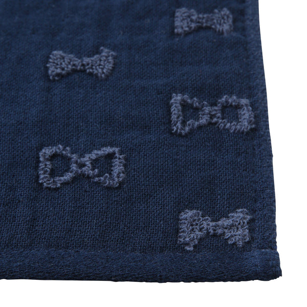 BALLOT Hand Towel Ribbon Dots Navy