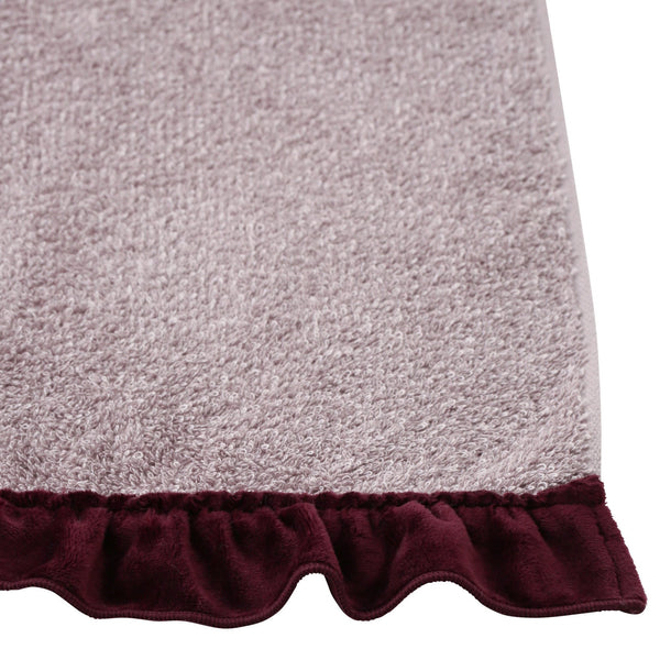 VELOUR FRILL FACE TOWEL Pink