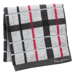 PLAID CHECKED BATH TOWEL Gray