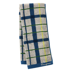 PLAID CHECKED FACE TOWEL Gray