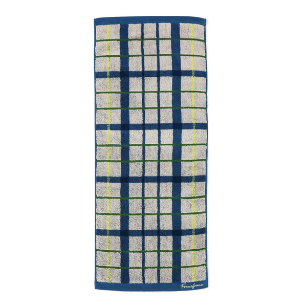 PLAID CHECKED FACE TOWEL Blue