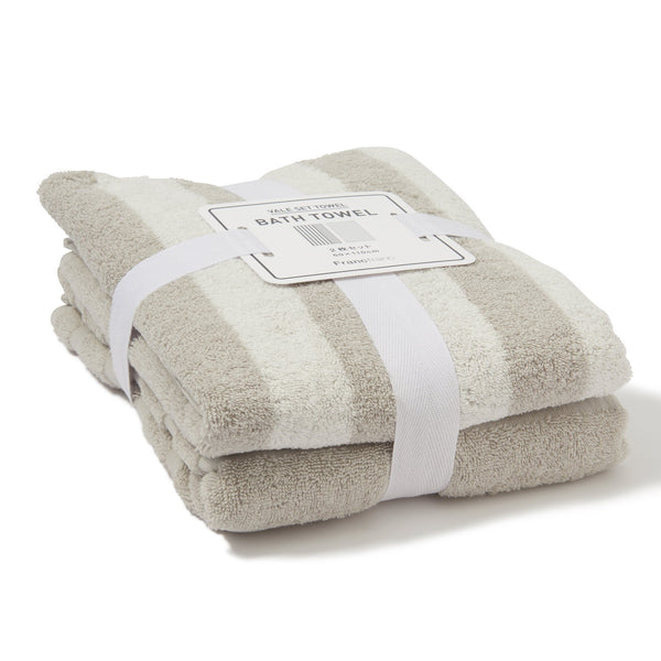 Autumn VALE BATH TOWEL BORDER Gray