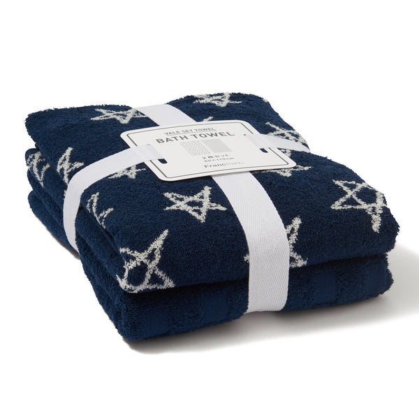 Autumn VALE BATH TOWEL STAR Blue