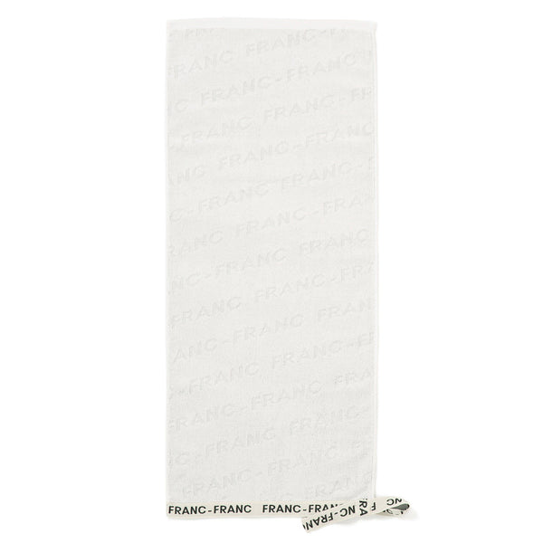 LOGO RIBBON FACETOWEL WHITE