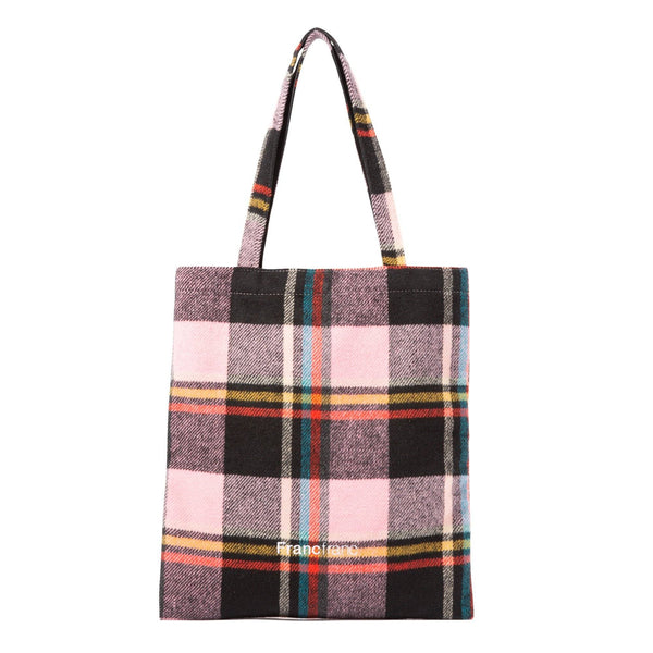LOGO TOTE PLAD CHECKED Small