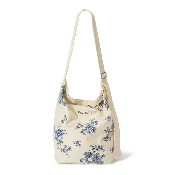 LOGO SHOULDER BAG FLOWER Blue