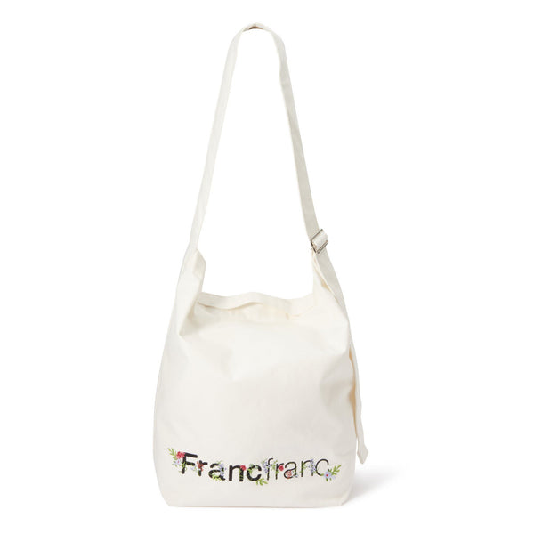 LOGO SHOULDER BAG EMBROIDERY Ivory