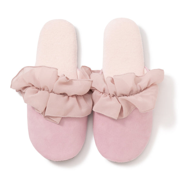 CHIFFON ROOM SHOES FRILLS LPK