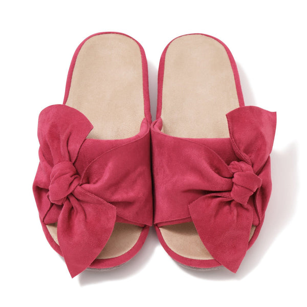 CASUAL RIBBON ROOM SHOES PINK