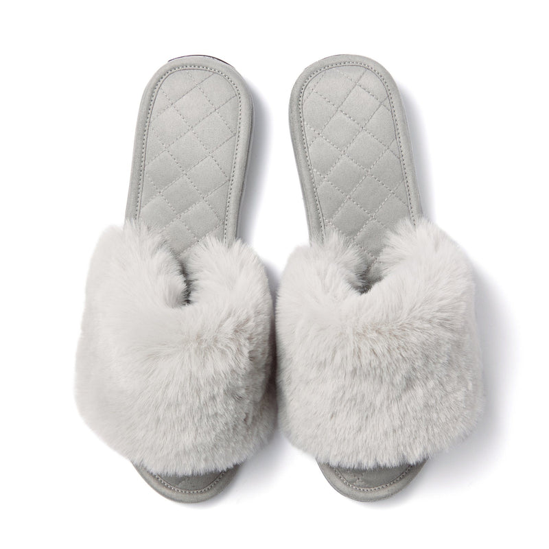 ECO FUR ROOM SHOES GY