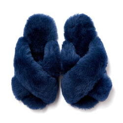 SHEEP FUR CROSS ROOM SHOES NV