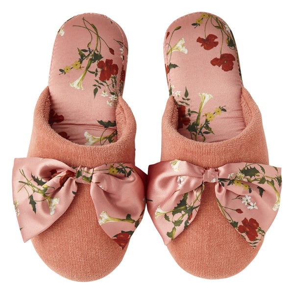 FLOWER Printed Room Shoes Pink