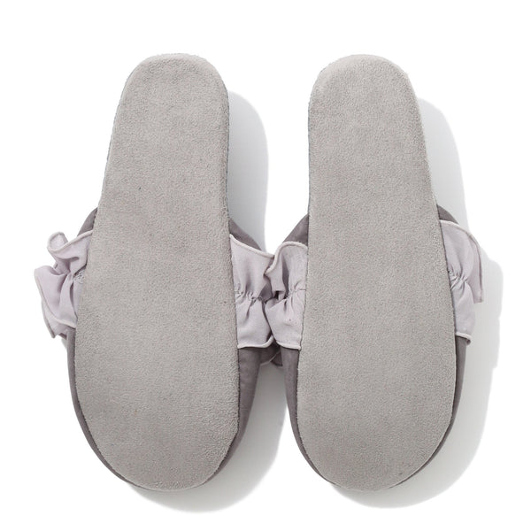 CHIFFON ROOM SHOES FRILL Gray