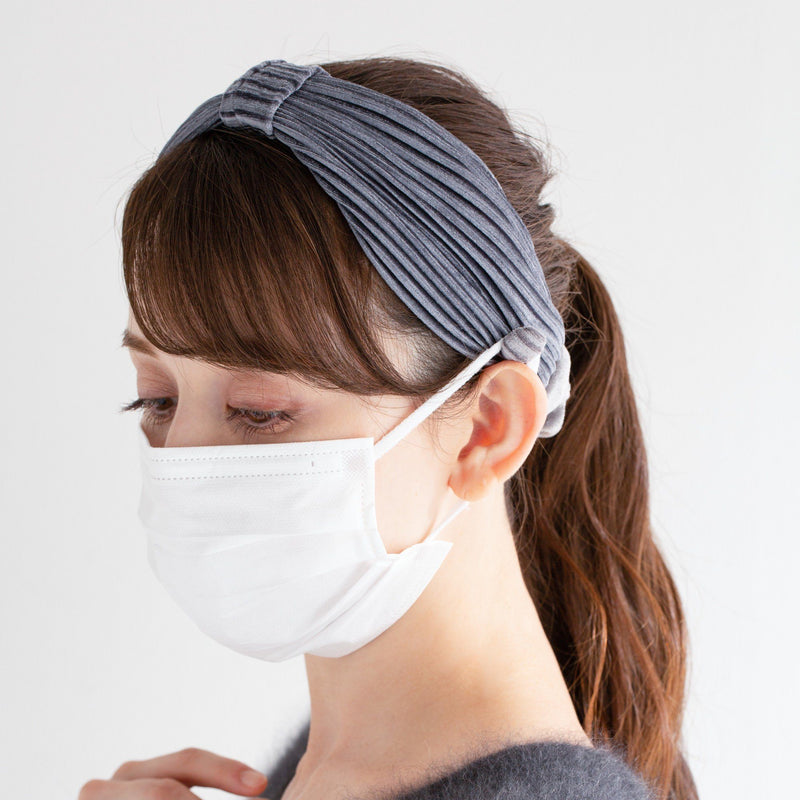 mask holder hair band GRAY