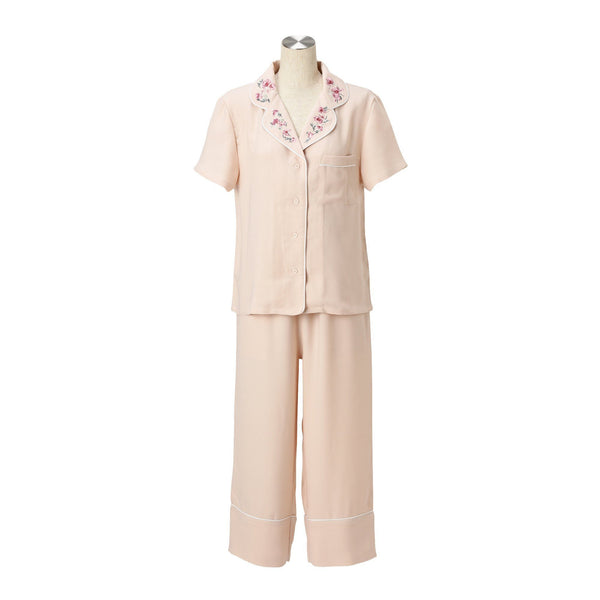 FLOWER EMBROIDERED PAJAMA  PK