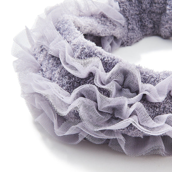 MOIST KNIT FRILL HAIR BAND GY