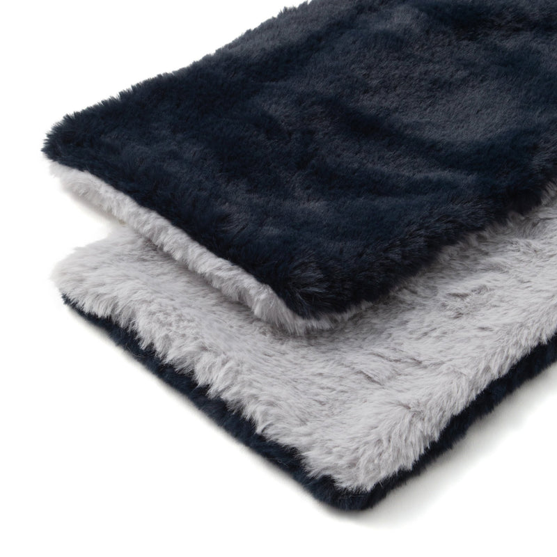 TIPPET Reversible Eco Fur NAVY