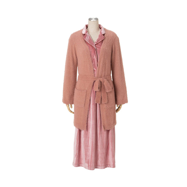 SCALLOP NYLON FEATHER ROBE PK