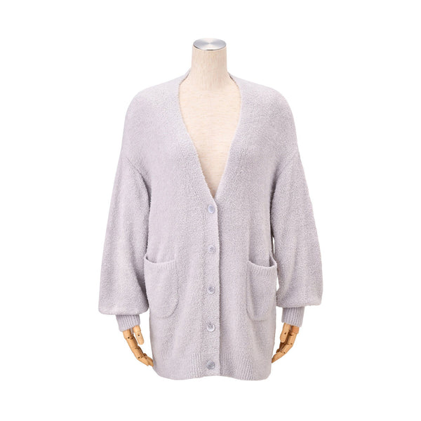 MOIST Feather Knit Cardigan Gray