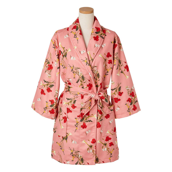 FLOWER Printed Bath Robe Pink