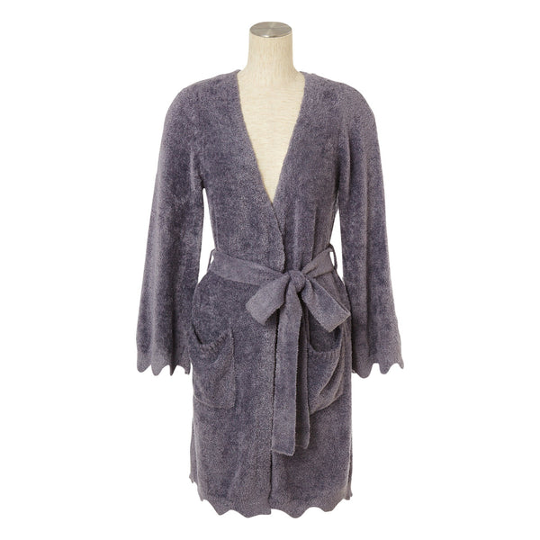 SCALLOP Knit Robe Gray