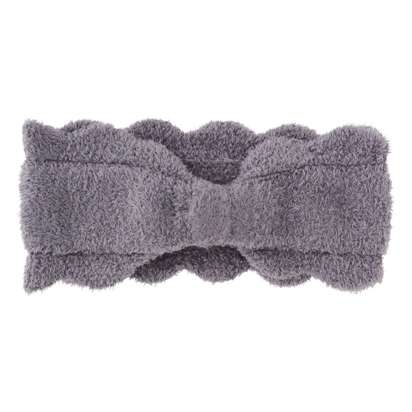 SCALLOP Knit Hair Band Gray