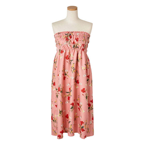 FLOWER Printed Bath Dress Pink