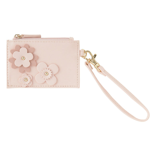 FLOWER Motif Key & Card Case Pink