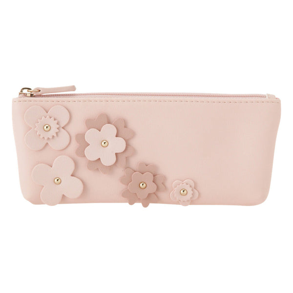 FLOWER Motif Pen Case Pink