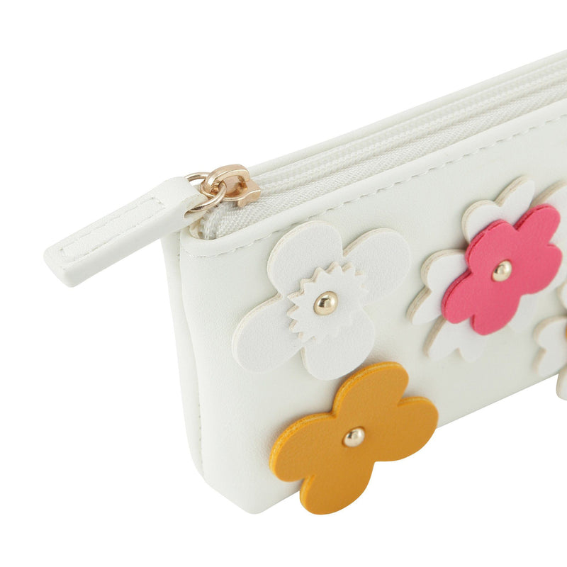FLOWER MOTIF PEN CASE