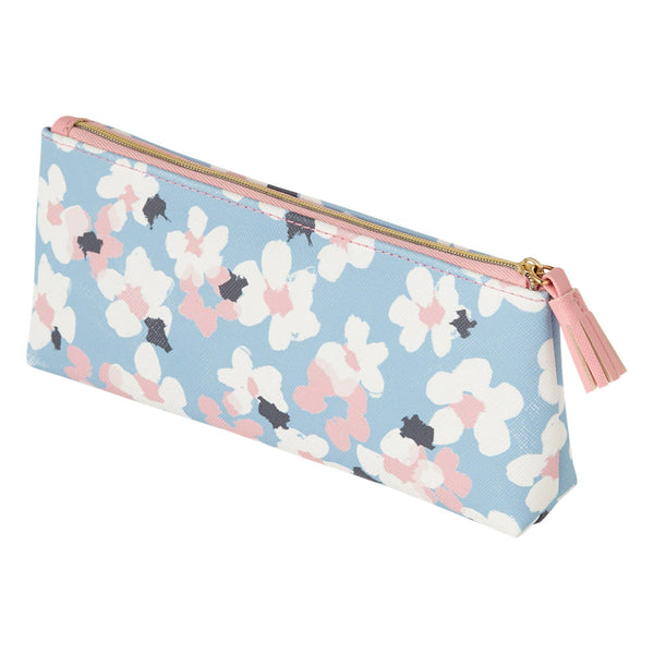 ADORABLE Pen & Eye Glasses Case Blue