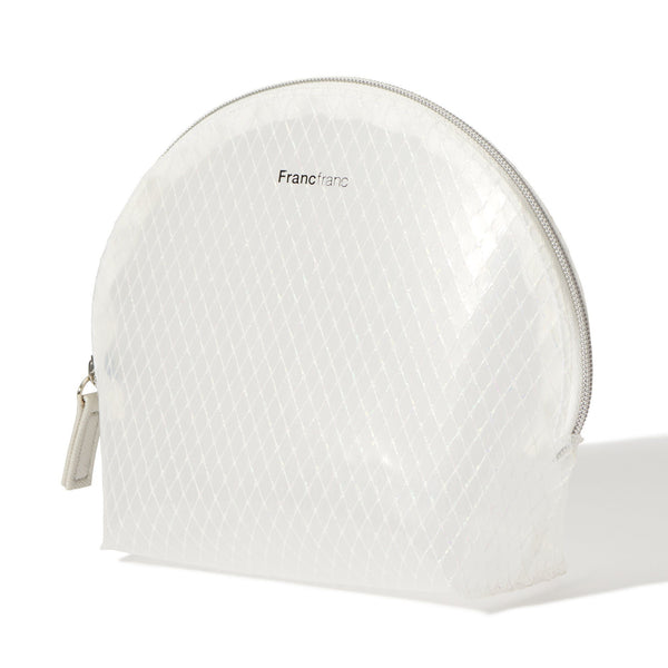 LOGO POUCH SHELL SMALL CLEAR